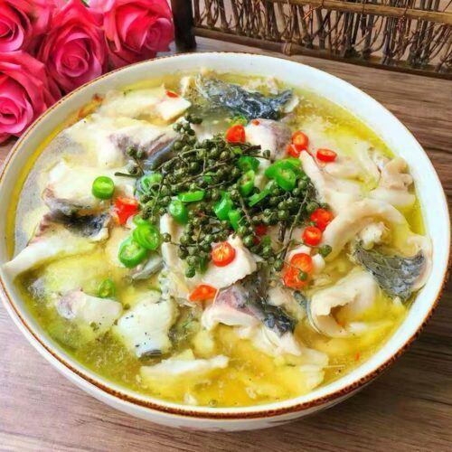 green Sichuan peppercorn fish