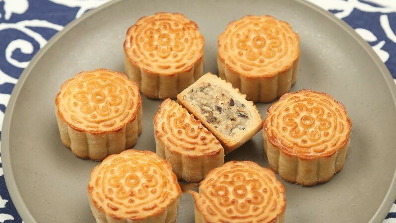 How to make five-ren mooncake? 1