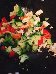 broccoli pan-fry chicken recipe step 6