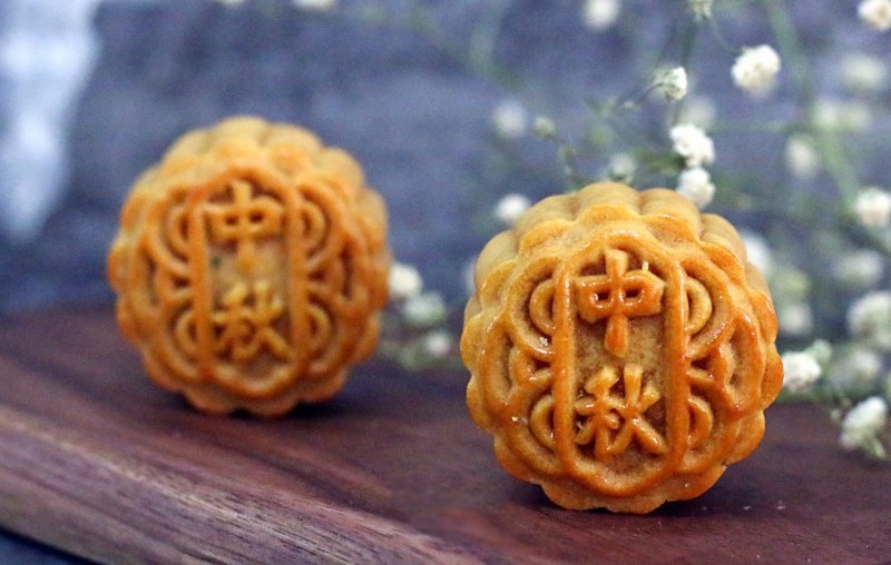 cranberries and coconut moon cake