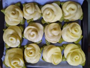 Rose Steamed Bread step9