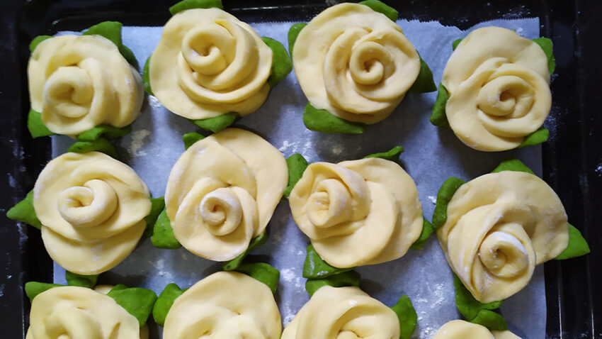 Beautiful Rose Steamed Bread